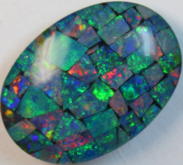 16 cts AAA + MOSAIC TOP CRYSTAL OPAL USE TO MAKE THESE MOSAICS C8408