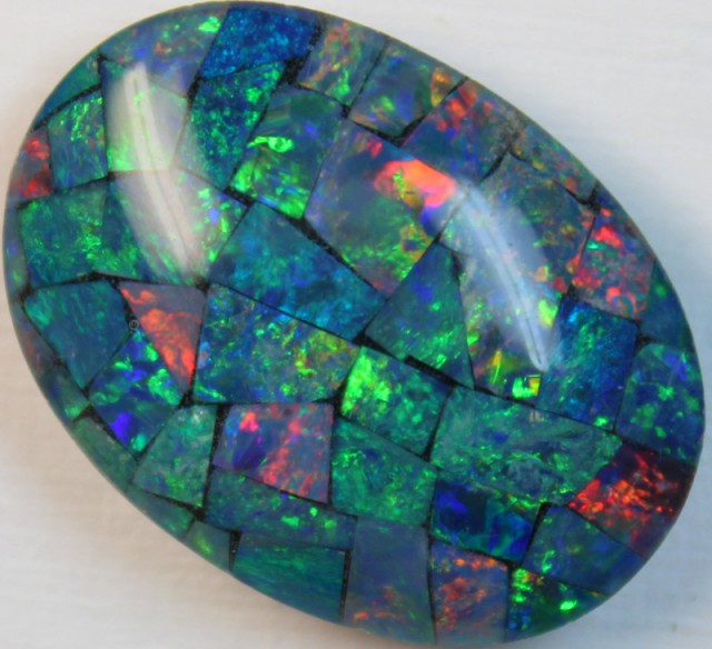 17 cts AAA + MOSAIC TOP CRYSTAL OPAL USE TO MAKE THESE MOSAICS C8409