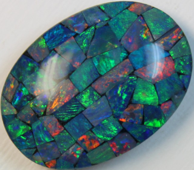 17 cts AAA + MOSAIC TOP CRYSTAL OPAL USE TO MAKE THESE MOSAICS C8412