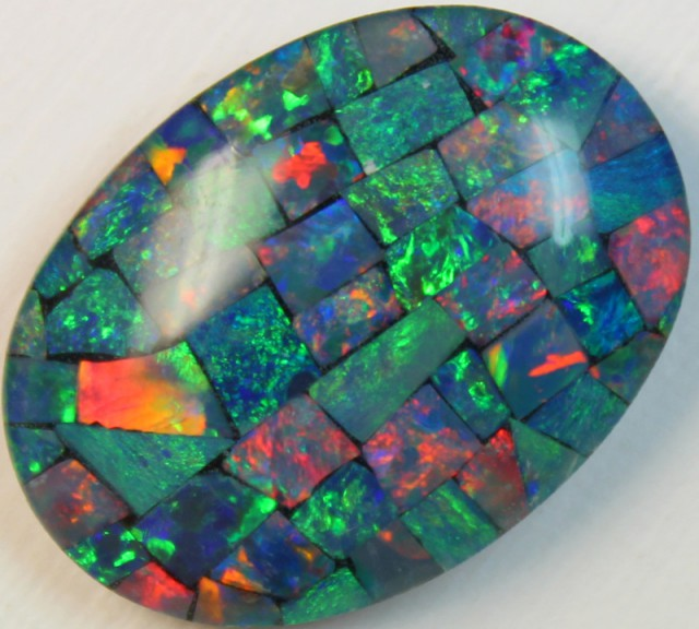 16.5 cts AAA + MOSAIC TOP CRYSTAL OPAL USE TO MAKE THESE MOSAICS C8413