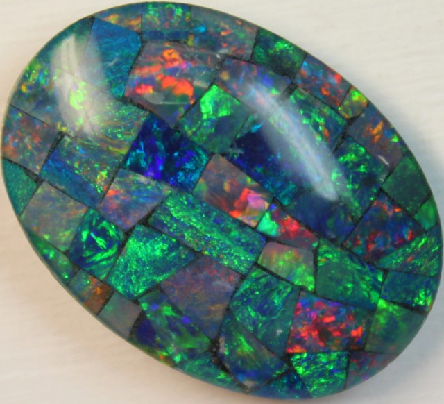 16 cts AAA + MOSAIC TOP CRYSTAL OPAL USE TO MAKE THESE MOSAICS C8414