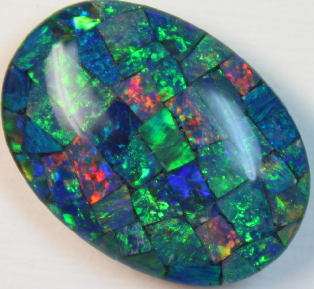 17.4 cts AAA + MOSAIC TOP CRYSTAL OPAL USE TO MAKE THESE MOSAICS C8416