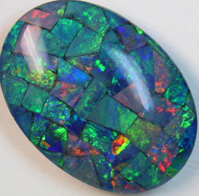 16.3 cts AAA + MOSAIC TOP CRYSTAL OPAL USE TO MAKE THESE MOSAICS C8418