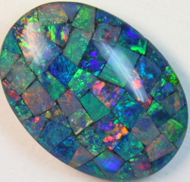 17.6 cts AAA + MOSAIC TOP CRYSTAL OPAL USE TO MAKE THESE MOSAICS C8419