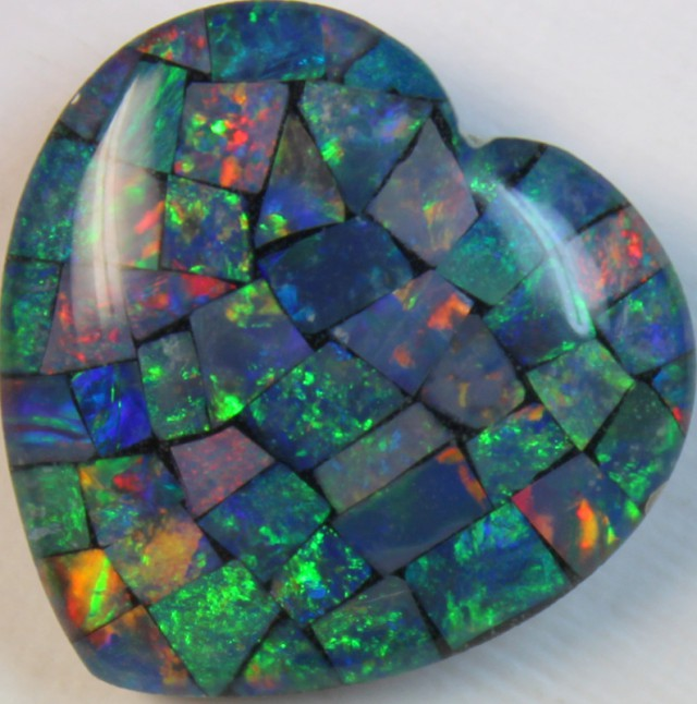 14 cts AAA + MOSAIC TOP CRYSTAL OPAL USE TO MAKE THESE MOSAICS C8423