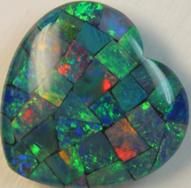 14.2 cts AAA + MOSAIC TOP CRYSTAL OPAL USE TO MAKE THESE MOSAICS C8425