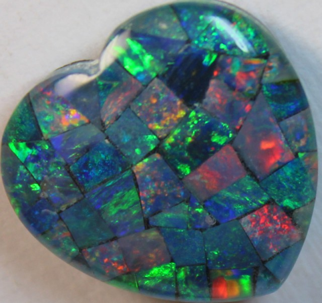 14 cts AAA + MOSAIC TOP CRYSTAL OPAL USE TO MAKE THESE MOSAICS C8432