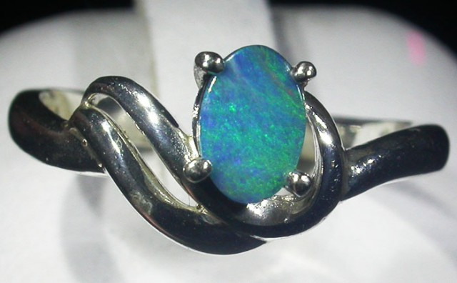Doublet  Opal Silver Ring  AGR 1132