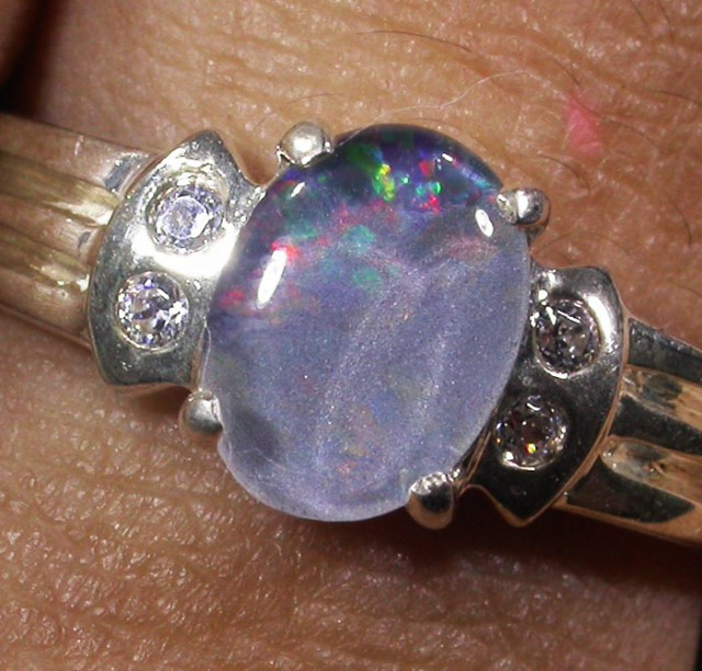 Triplet Opal Silver Ring  AGR 1169