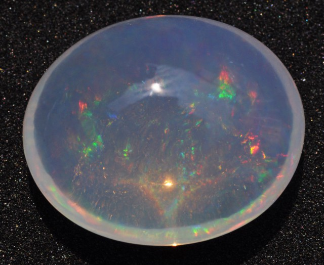 13.5 carats Mexican Crystal  Opal Bright Fire Multi-Color
