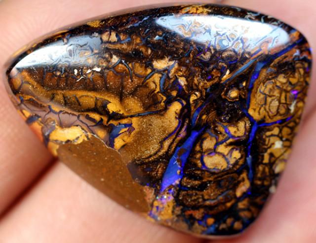 58cts 34x27mm Australian Boulder Opal Cut Stone C-217