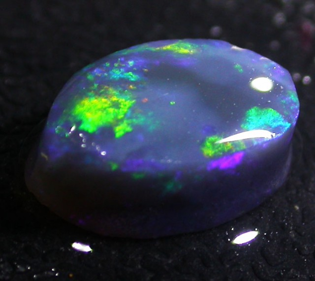 2.5 CTS BLACK OPAL ROUGH -FACED -LIGHTNING RIDGE [BR3456]