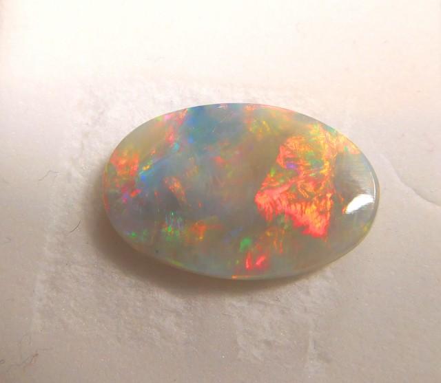 Stunning Multi Color Flashing Black Crystal Opal - Lightning Ridge - PA07