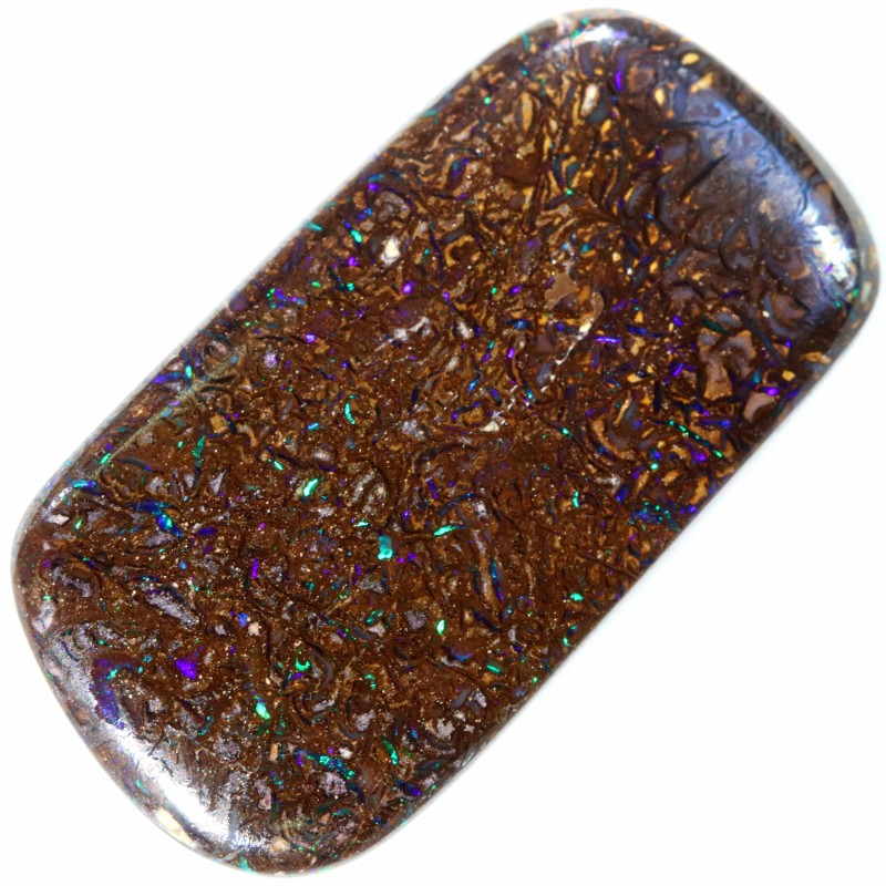 18.35 CTS DOUBLE SIDED BOULDER OPAL COLOUR PLAY ON BOTH SIDES C6556