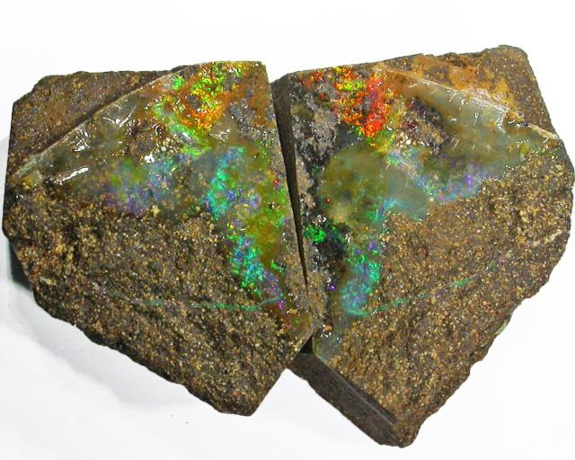 Pair good Boulder opals    QOM1609