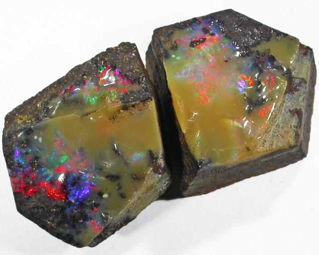 Wow Red Fire Pair good Boulder opals    QOM1614
