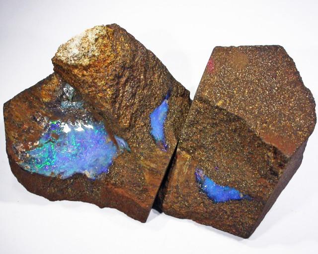 Pair good Boulder opals    QOM1619