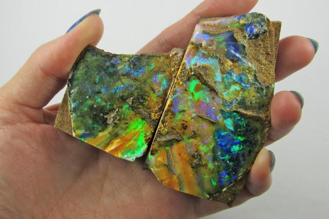 Top Gem split  good Boulder opal    QOM1621