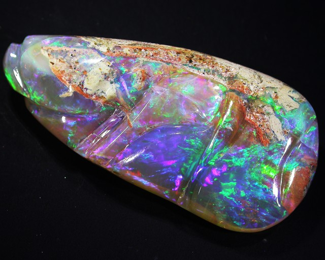 Crystal Boulder opal Unique carving AGR2017
