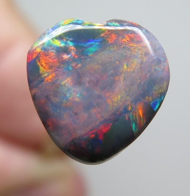 1.29 Ct Red Blue Black Opal Lightning Ridge