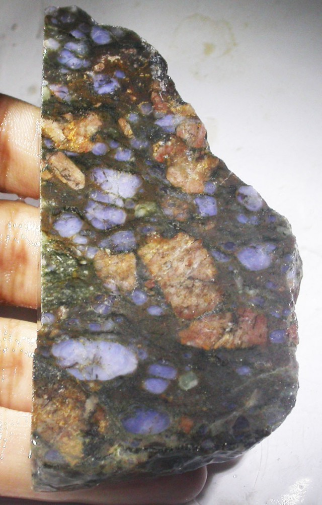 Feldspar Stone Slabs : Cts rough brazil opal in feldspar slab vs