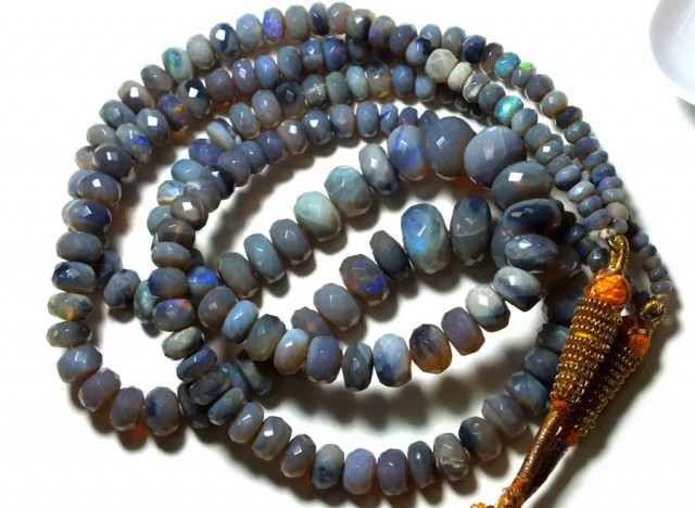 205 CTS BLACK OPAL NECKLACE TBO- GC