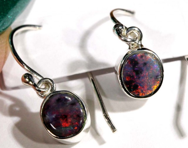 DOUBLET SILVER  EARRINGS 7.15 CTS  OF-1063 GC