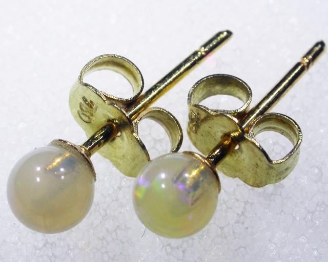 Crystal 18k  Opal earrings  BU 430a