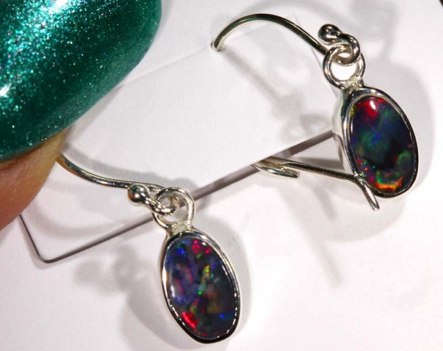 SOLID OPAL SILVER  EARRINGS 7.85   CTS    OF-1076 GC