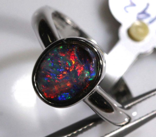BOULDER OPAL SILVER RING 17.10 CTS OF-1078 GC