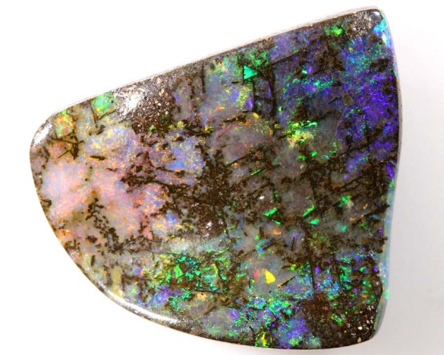 BOULDER WOOD OPAL POLISHED STONE 18.30 CTS  INV-229