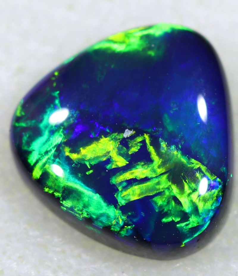 (2.20 ct)CHINESE WRITING BLACK OPAL  [exc3]