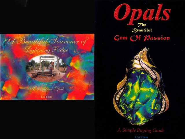 2 BOOKS - A Beautiful Souvenir Of Lightning Ridge and Opals Gem Of Passion-