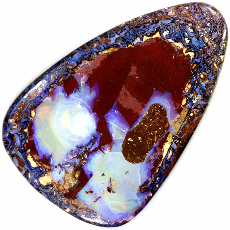 91.00 CTS YOWAH OPAL POLISHED NICE COLORS TOP PATTERN STONE C3491