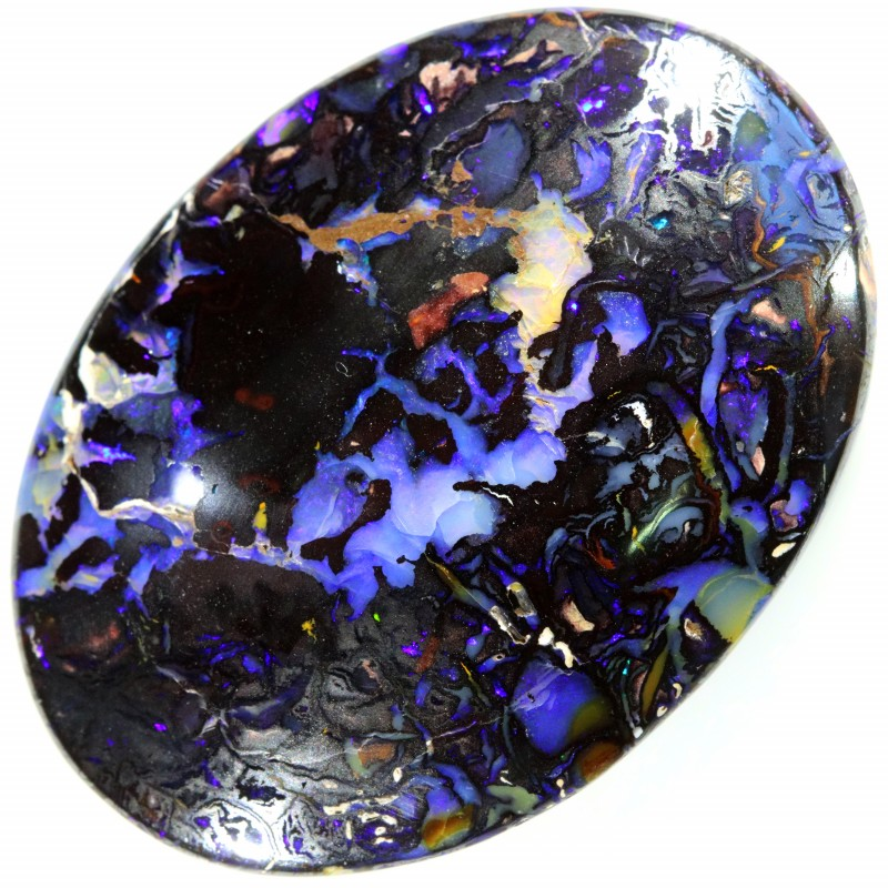 COMMERCIAL LARGE OVAL SHAPE DOUBLE SIDED BOULDER OPAL 43CTS A7585