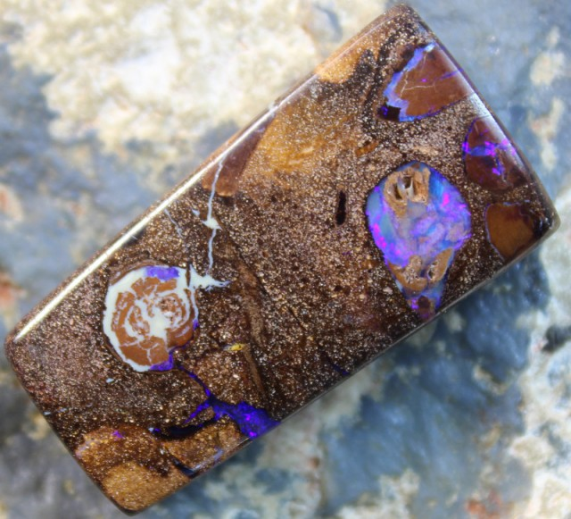 27.20 CTS BOULDER OPAL POLISHED STONE GLOSSY FINISH D 45