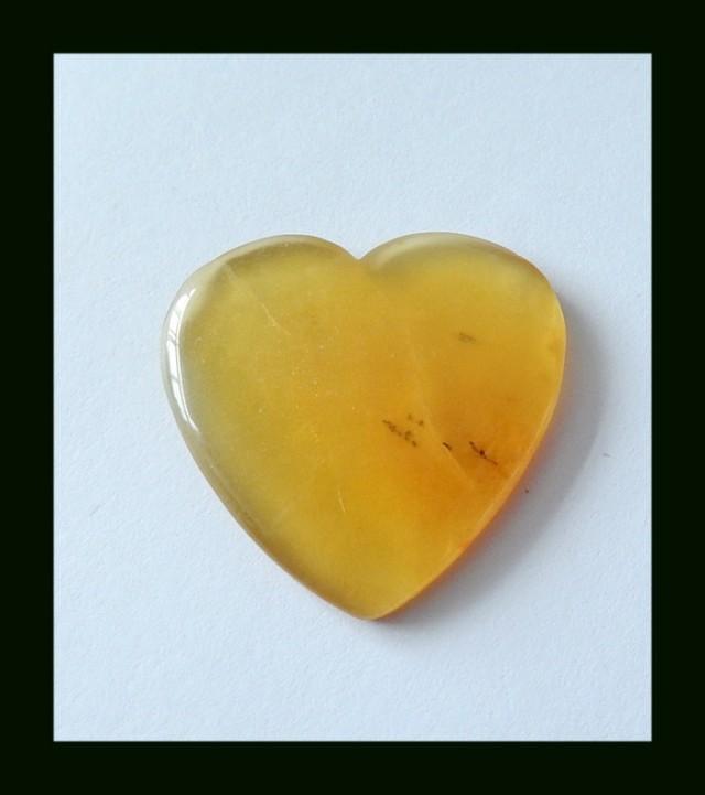 19.5 ct Natural Madagascar Opal Crystal Heart Cabochon
