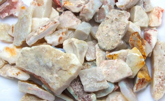 250 CTS WHITE OPAL ROUGH (PARCEL) COOBERPEDY DT-5391