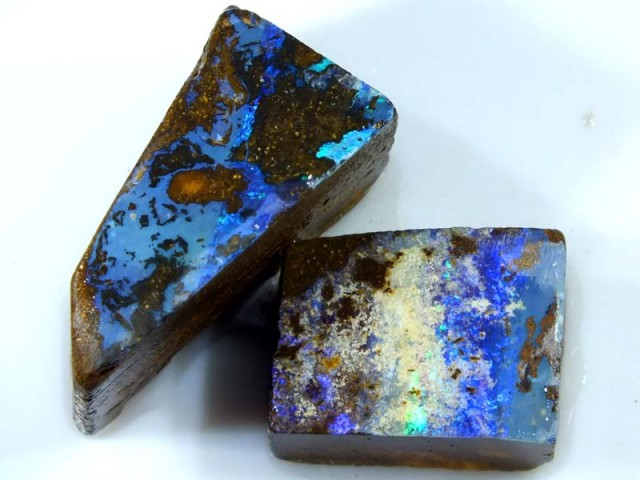 97CTS BOULDER OPAL ROUGH (2-PCS)  DT-5573