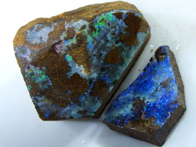 64CTS BOULDER OPAL ROUGH (2-PCS)  DT-5576