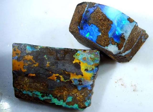 63CTS BOULDER OPAL ROUGH (2-PCS)  DT-5578