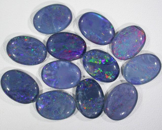 39.9 Cts Parcel 12 large Opal triplets  BU 820