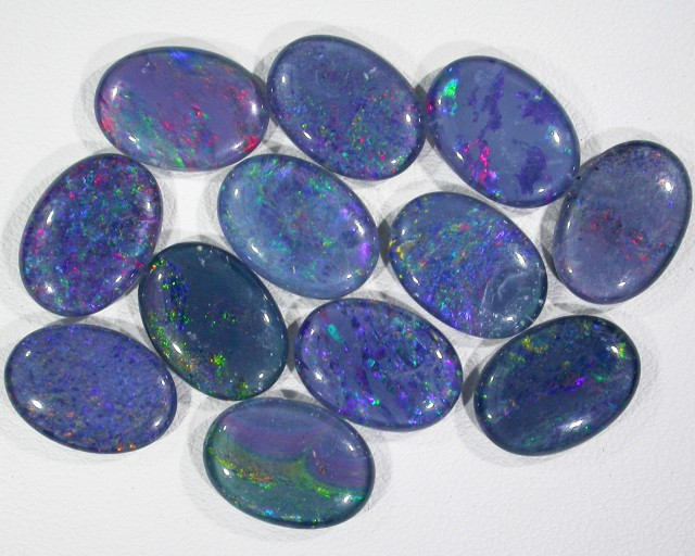 39.7 Cts Parcel 12 large Opal triplets  BU 821