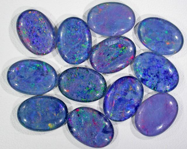 39.25 Cts Parcel 12 large Opal triplets  BU 827