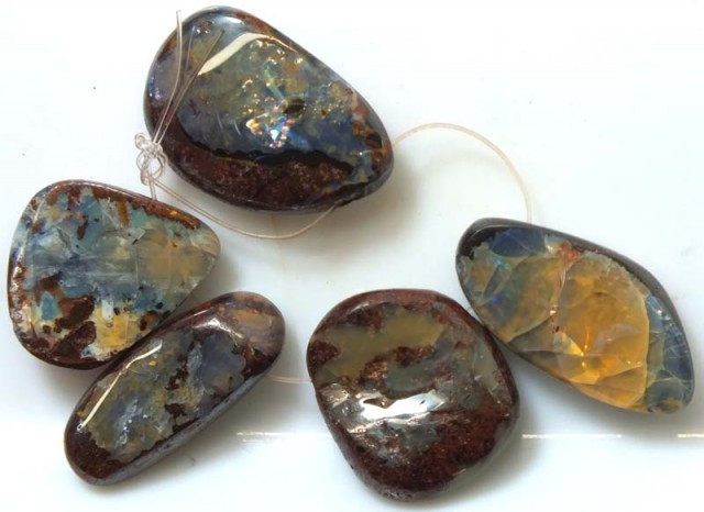 BOULDER OPAL POLISHED DRILLED(PARCLE) 300 CTS ADO-2933
