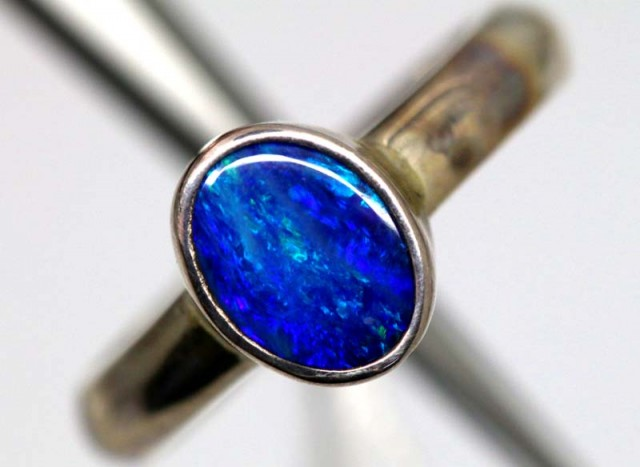 DOUBLET OPAL SILVER RING 16.35  CTS OF-1151