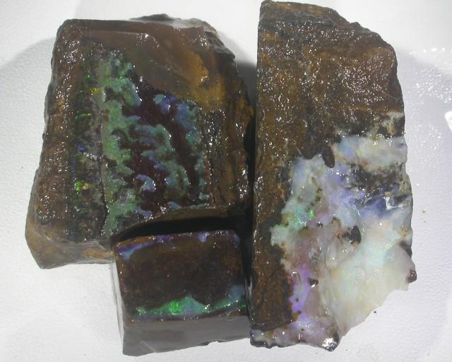 604CT   3PC Rough Boulder Opals BU 846