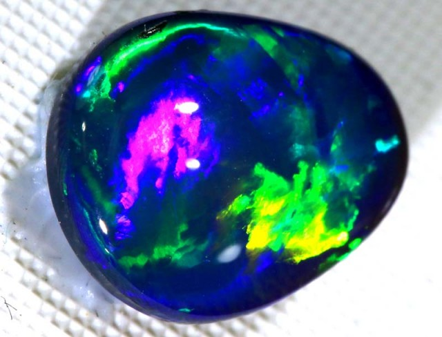N-1- 2.65  CTS QUALITY BLACK SOLID OPAL LIGHTNING RIDGE INV-277