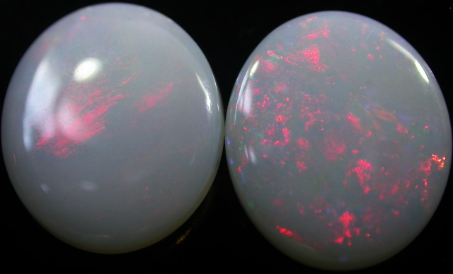 5.10 CTS WHITE FIRE OPAL PAIRS  -CALIBRATED [CP1469]