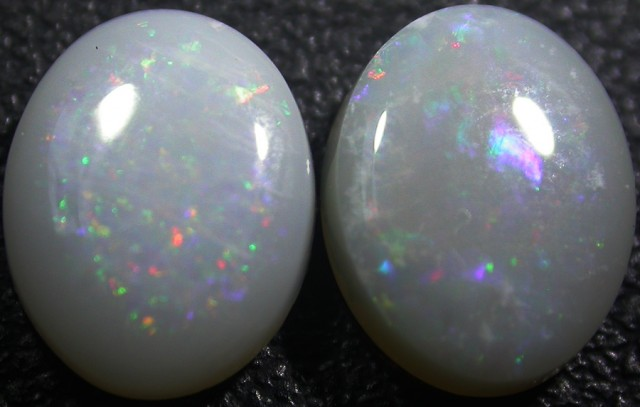 2.40 CTS WHITE FIRE OPAL PAIRS  -CALIBRATED [CP1476]